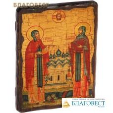 Икона под старину святые Петр и Феврония