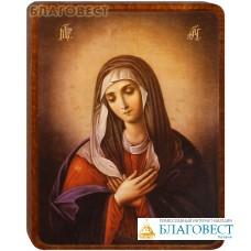 """Икона Божией Матери """"Умиление"""" на деревянной основе"""