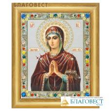 """Икона Божией Матери """"Умягчение злых сердец"""" в багете, цвет страз в ассортименте"""