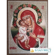 Ковер настенный с изображением иконы Матери Божией, именуемой Жировицкая