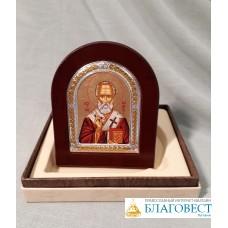 Икона Свт. Николая Чудотворца, в подарочной коробочке. 8 х 9,5 см