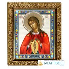 """Икона Божией Матери """"Помощница в родах"""" в багете со стразами"""