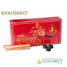 """Уголь """"Братский золотой"""", диаметр 22 мм (20 брикетов по 10 таблеток в коробке)"""