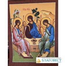 Ковер прошивной с печатным рисунком иконы Святая Троица
