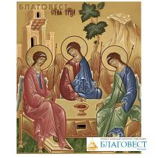 Икона аналойная малая Святая Троица. Дерево, ручное золочение (поталь)