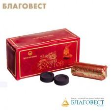 """Уголь """"Братский золотой"""" диаметр 40 мм (10 брикетов по 6 таблеток в упаковке)"""