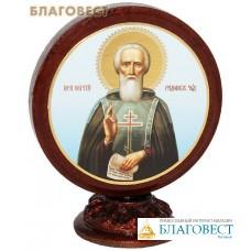 """Икона на подставке """"Святой преподобный Сергий Радонежский"""""""