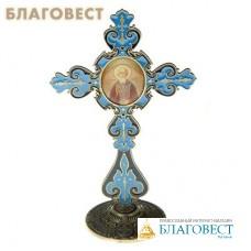 """Крест на подставке с иконой """"Преподобный Сергий Радонежский"""""""