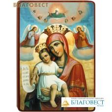 """Икона Божией Матери """"Достойно есть"""" на деревянной основе"""