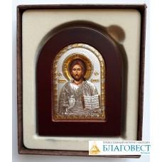 Икона Господь Вседержитель, на деревяной подставке,       7 х 9 см
