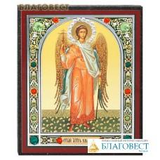 Икона Ангел - Хранитель, ростовая, стразы разноцветные