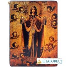 """Икона Божией Матери """"Нерушимая Стена"""". Полиграфия, дерево, лак"""