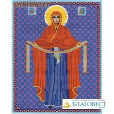 """Рисунок на ткани для вышивания иконы бисером Пресвятая Богородица """"Покрова"""". Размер 190*240"""
