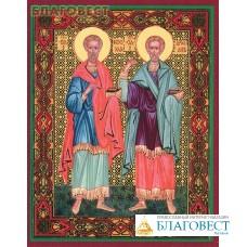 Икона Святые бессребреники Косма и Дамиан Асийские