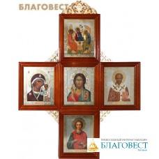 Иконостас в виде креста. Размер иконы 110х130мм