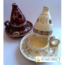 Кадильница керамика, деколь с золотом
