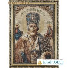 Икона Святитель Николай чудотворец, гобелен