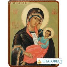 """Икона Божией Матери """"Утоли моя печали"""" на деревянной основе"""