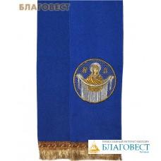 Закладка для Евангелия, синяя из габардина, 150 см