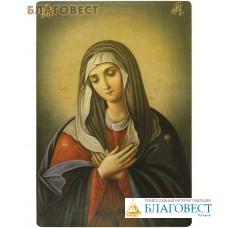 """Икона Божией Матери """"Умиление"""". Полиграфия, дерево, лак"""
