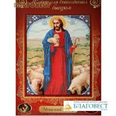 """Набор для вышивания бисером """"Иисус"""". Чешский бисер. Размер 19*24 см"""