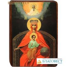 """Икона Божией Матери """"Державная"""" на деревянной основе"""
