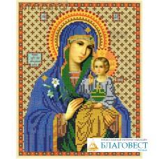 """Рисунок на ткани для вышивания бисером Пресвятая Богородица """"Неувядаемый цвет"""". Размер 190*240"""