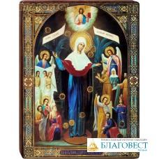 """Икона Божией Матери """"Всех скорбящих Радость"""" на деревянной основе"""