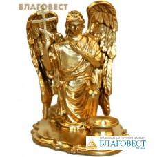 """Подсвечник из металла """"Ангел с Крестом"""" коленопреклоненный для свечи диаметром 0,5-0,8см"""