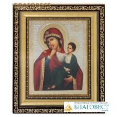 """Икона Пресвятая Богородица """"Отрада или Утешение"""". Киот (узкий), багет, стекло"""
