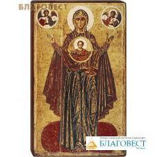 """Икона Божией Матери """"Мирожская"""" на деревянной основе"""