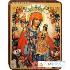 """Икона Божией Матери """"Неувядаемый цвет"""" на деревянной основе"""