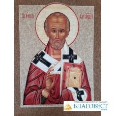 Ковер настенный с изображением иконы Святителя Николая