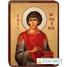 """Икона """"Святой великомученик и целитель Пантелеимон"""" на деревянной основе"""