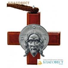 """Крест """"Спас Нерукотворный"""" на шнурке"""