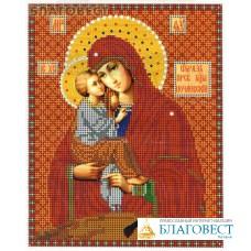 """Рисунок на ткани для вышивания иконы бисером Пресвятая Богородица """"Почаевская"""""""