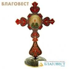 """Крест на подставке с иконой """"Блаженная Матрона Московская"""""""