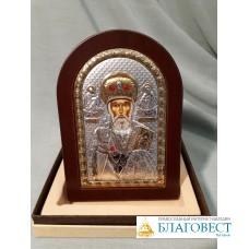 Икона Святителя Николая, архп. Мир Ликийских, 10 х 14 см. Греция.