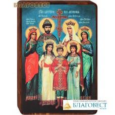"""Икона """"Царственные мученики"""" на деревянной основе"""