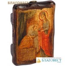 """Икона под старину Пресвятая Богородица """"Целительница"""""""