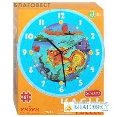 """Сборная пазл-игрушка Часы """"Золотая рыбка"""". С часовым механизмом"""