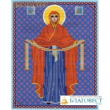 """Рисунок на ткани для вышивания бисером Пресвятая Богородица """"Покрова"""". Размер 190*240"""