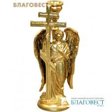 """Подсвечник из металла """"Ангел с Крестом"""" для свечи диаметром 1см"""