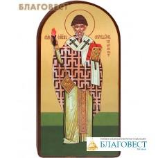 """Икона """"Святой епископ Спиридон Тримифунтский"""" на деревянной основе"""