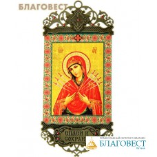 """Икона-хоругвь Пресвятая Богородица """"Семистрельная"""""""