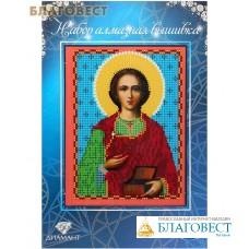 """Набор со стразами """"Св. Великомученик Пантелеимон"""". Размер 14,3*19,3 см"""