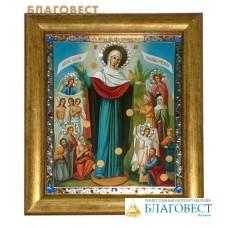 """Икона Божией Матери """"Всех Скорбящих Радость"""" в багете со стразами"""