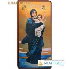 """Икона Божией Матери """"Благодатное небо"""" (Васнецов) на деревянной основе"""