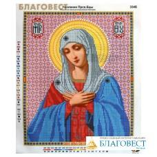 """Рисунок на ткани для вышивания бисером Пресвятая Богородица """"Умиление"""""""