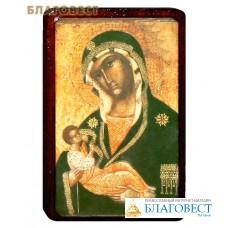 Икона Божией Матери Млекопитательница на деревянной основе